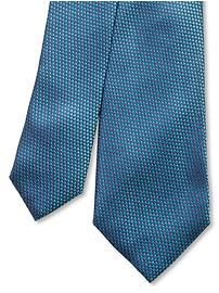 Tonal texture silk tie