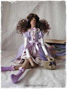 Tilda doll OOAK doll Tilda doll in Lavender dress Textile