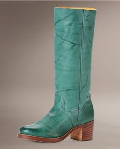 Teal boots