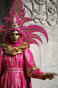 Costume worn in Venice, Italy at Carnival in 2007.Venice carnival has a long and storied past and you can see influences of the Renaissance in the incredible costumes you will see