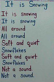 """it is snowing"" poem"