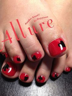 Valentine's Day Toe Nails Designs Valentine's Day Toe Nail Art Designs Pretty Pedicures, Pretty Toe Nails, Cute Toe Nails, Toe Nail Art, Nail Art Designs, Pedicure Designs, Nail Polish Designs, Vegas Nails, Manicure Y Pedicure