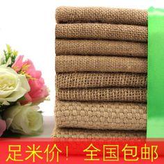Бесплатная доставка джут фон мешковины ткань украшение старый грубой тканью холст ручной работы ткань оптовая торговля - Taobao
