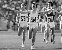 Seb Coe upset winner over Steve Ovett in 1980 Olympic in Moscow after himself being beaten in the in an upset victory by Ovett ! London 2012 Game, Sebastian Coe, Cameron Alexander Dallas, Star Wars, Running Late, Sports Stars, Sports Photos, Track And Field, Olympic Games