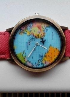 Kupuj mé předměty na #vinted http://www.vinted.cz/doplnky/hodinky/14380302-nove-cervene-rucickove-hodinky-s-letadlem