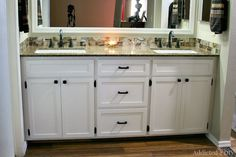 11 DIY Bathroom Vanity Plans You'll Love: DIY Double Bathroom Vanity From Addicted 2 DIY