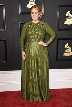 Adele shined in a green Givenchy Haute Couture gown