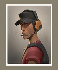 team fortress 2 - portrait scout.