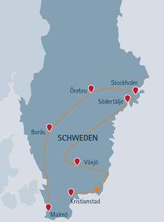 Schweden-Rundreise für Einsteiger: Entdecken Sie Småland, die Heimat Astrid Lindgrens, die großen Seen & Stockholm. Auf dieser Reise sind Hunde erlaubt.