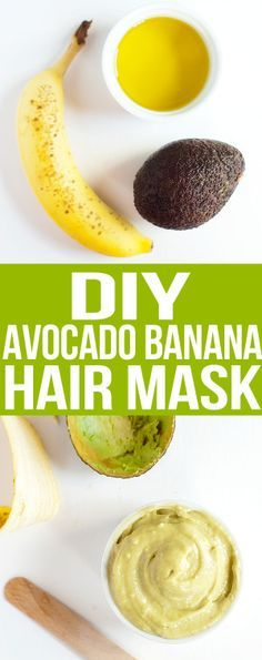 diy avocado banana hair mask