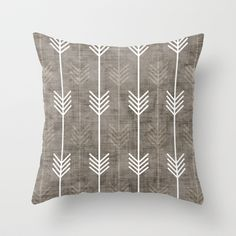 dirty arrows Throw Pillow by Holli Zollinger - $20.00