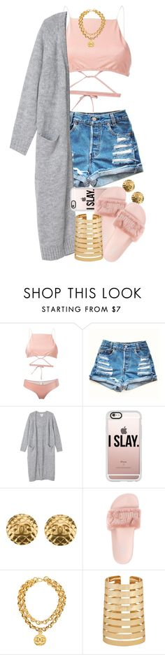 """Untitled #1569"" by power-beauty ❤ liked on Polyvore featuring Ack, Monki, Casetify, Chanel, Puma and Forever 21"