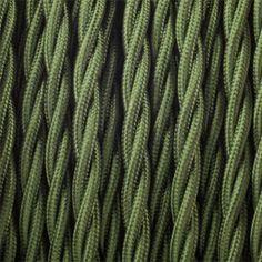 Dyke and Dean Fabric Flex 1m - 400531 - Khaki Green Braided Fabric Flex 1m