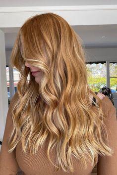 Light Copper Hair, Copper Blonde Hair, Dark Blonde Hair Color, Golden Blonde Hair, Ginger Hair Color, Ginger Hair Dyed, Ginger Blonde Hair, Honey Hair, Strawberry Blonde Hair Color