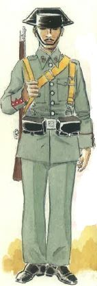 Spanish civil war -Guardia Civil en uniforme de servicio. Pin by Paolo Marzioli