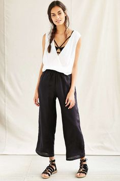 Mixed Business Wide Leg Pant - Urban Outfitters