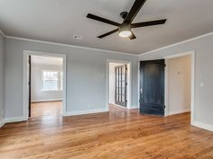 Master Suite Wall Color: BM Graytint 1611 Ceiling Fan: Home Decorators  Collection Merwry 52