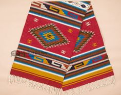 Hand Woven Zapotec Wool Floor Runner 30x96 (r219)