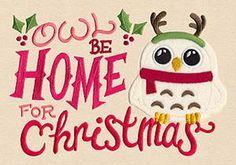 Owl Be Home for Christmas (Applique)_image