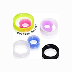 Ultra Thin Silicone Tunnel Plug   Tunnel Plug Is Available in White or Black. Thin, Light weight silicone. Available in six sizes: 2g, 0g, 00g, 1/2in, 9/16in, 5/8in. Prices Start at 6.22 and go up accordingly to size. This item is sold individually not in pairs!