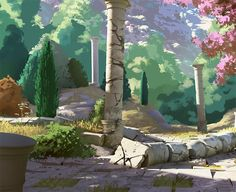 """""""Few work in progress environments from a personal game project :"""""""