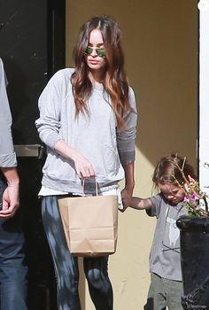 Exclusif - Alors que le couple est en instance de divorce, Brian Austin Green et Megan Fox sont allés déjeuner avec leur fils Noah dans un restaurant à Los Angeles. Le 17 janvier 2016