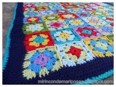 mi rincón de mariposas: Tutorial mantita de crochet TUTO