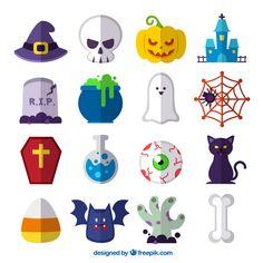 Halloween vector set. on Behance