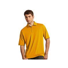 Men's Antigua Pique Performance Golf Polo, Size: Large, Lt Yellow