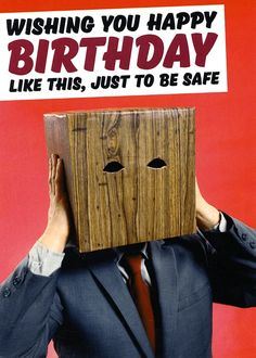 Funny birthday card - Just to be safe - Dean Morris | Comedy Card Company