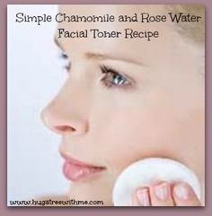 Simple Chamomile and Rose Water Facial Toner Recipe #DIYbeauty