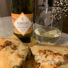 Viewpointe Estate Winery 2019 Essex region Riesling with Mushroom, Pepper and Pesto Strudel. Filo Pastry, Essex County, Stuffed Mushrooms, Stuffed Peppers, Strudel, Fresh Basil, Wineries, Have Time, Brewery