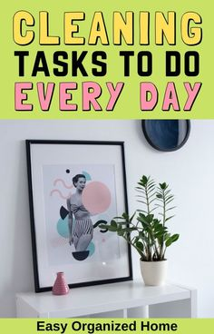 Do these simple cleaning chores every day for a home that is always clean! #cleaninghacks #homehacks #clean #cleaningtips #chores Daily Cleaning Checklist, House Cleaning Tips, Spring Cleaning, Organizing Your Home, Home Organization, Housekeeper Checklist, Clean House Schedule, Task To Do, Bathroom Cleaning Hacks