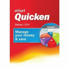 Get the motivation and organization you need to stay on budget with #Quicken #Deluxe 2014. This intuitive software connects to your bank, credit card, retirement, and loan accounts for a comprehensive view of your finances, and helps you plan and develop customized budgets, savings plans, and debt reduction plans