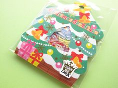 Kawaii Cute Merry Christmas (Xmas) Sticker Flakes Sack Crux (00254)