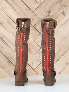 I wanted to love these boots but, the zipper was eating my ankle! $189.90 - Steve Madden Lynet Boot in brown.