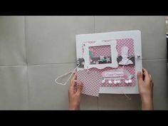 Album scrapbooking comunion niña - YouTube