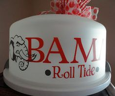 Personalized Cake Carrier - Alabama - BAMA - Cake Carrier (front) - TDY Designs