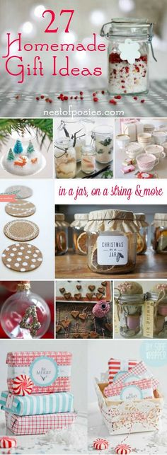 27 Homemade Gift Ideas in a jar, on a string, using a wick and more…