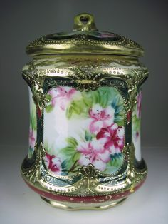 Antique Nippon Porcelain Cracker / biscuit jar