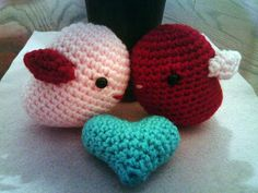Amigurumi Love Birds for Valentine's Day | Curly Girl's Crochet Etc.