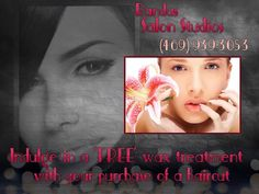 Relax, Indulge, and Spoil Yourself... Receive a 'FREE' wax treatment with your next trim...