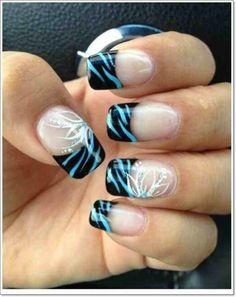 Zebra Print Nails Design Ideas imga7ff3d8400c9b48bd