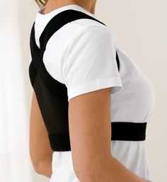 Lite Weight Shoulder Posture Brace - Gaiam i seriously need this....seriously....like for christmas....like last christmas...seriously
