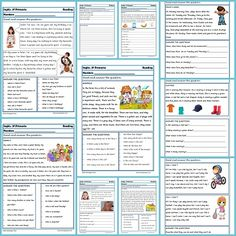 Fichas de Inglés para Tercero Primaria.Reading and writting. Nuevas fichas de inglés para trabajar Reading y Writting para tercerode Primaria.Descarga