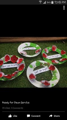 Anzac day wreath Toddler Art, Toddler Crafts, Preschool Crafts, Crafts For Kids, Remembrance Day Activities, Remembrance Day Poppy, Nursery Activities, Activities For Kids, Poppy Craft