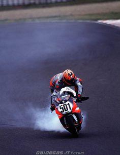 2000 Anthony Gobert Bimota SBK Racing Motorcycles, Racing Bike, Motogp, Motorbikes, Legends, Track, Train Station, Motorcycles, Runway