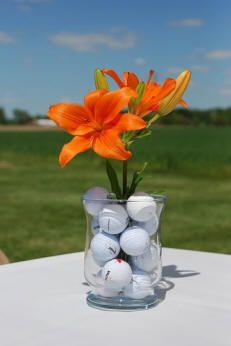 PGA Golf wedding theme centerpiece