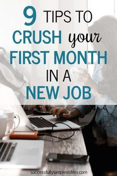 Do you want to start your new job on the right foot? It can be intimidating to start a new role, especially at a new office with brand new coworkers, or in an entirely new career. Read for 9 awesome tips to help you crush the first month of your new role! Job Career, Career Planning, Career Success, Career Advice, Career Education, Career Ideas, Dream Career, Career Path, Career Change