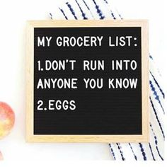 Grocery shopping at 11 pm has its benefits ? Word Board, Quote Board, Message Board, Quotes To Live By, Me Quotes, Funny Quotes, Wall Quotes, Felt Letter Board, Bacon